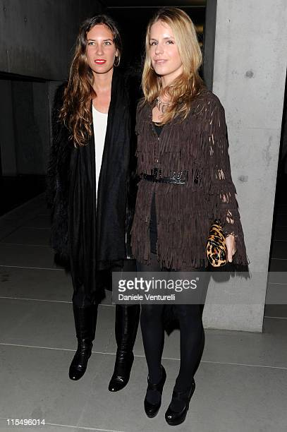 Tatiana Santo Domingo and Eugenie Stavros attend Richard Hambleton Exhibition during Milan Fashion Week Womenswear Autumn/Winter 2010 show on...