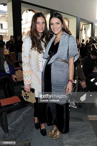 Tatiana Santo Domingo and Margherita Missoni Maccapani attend the Missoni Autumn/Winter 2012/2013 fashion show as part of Milan Womenswear Fashion...
