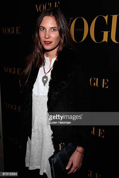 Tatiana Santo Domingo attends the Turkish Vogue Edition Launch Party as part of Paris Fashion Week Fall/Winter 2011 at Hotel Crillon on March 7 2010...