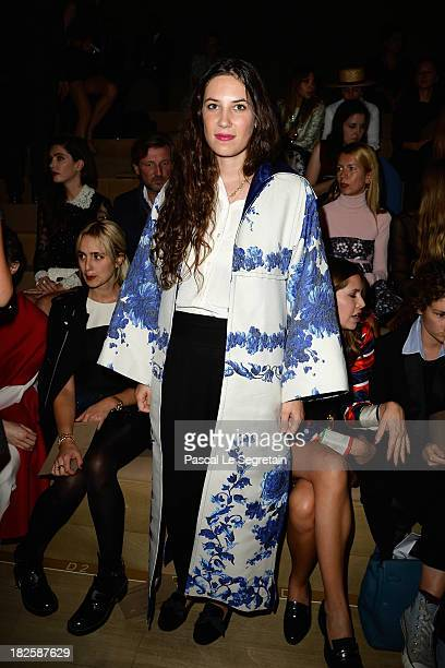 Tatiana Santo Domingo attends the Valentino show as part of the Paris Fashion Week Womenswear Spring/Summer 2014 at Espace Ephemere Tuileries on...