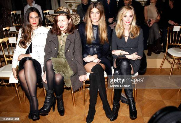 Tatiana Santo Domingo Charlotte Dellal Bianca Brandolini d'Adda and Lauren Santo Domingo attend the Valentino show as part of the Paris Haute Couture...
