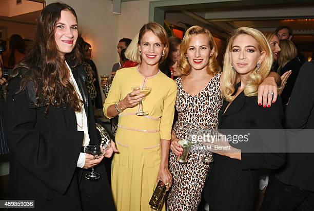 Tatiana Santo Domingo Eugenie Niarchos Charlotte Dellal and Sabine Getty attend a private dinner celebrating the Charlotte Olympia SS16 Collection...