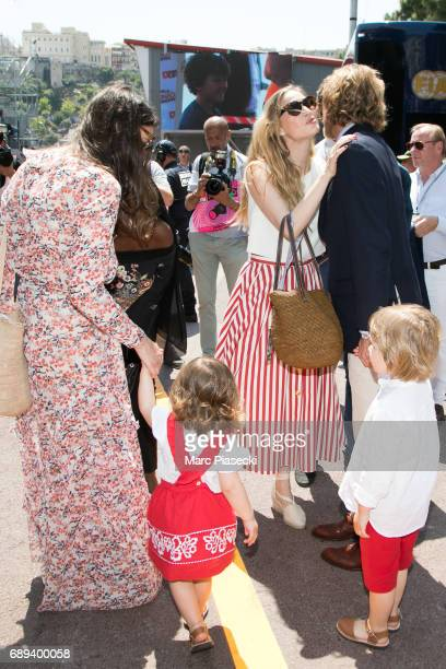 Tatiana Santo Domingo India Casiraghi Beatrice Borromeo Andrea Casiraghi and Alexandre Andrea Stefano Casiraghi attend the Monaco Formula 1 Grand...