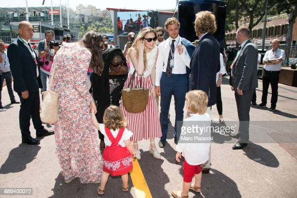Tatiana Santo Domingo India Casiraghi Beatrice Borromeo Pierre Casiraghi Andrea Casiraghi and Alexandre Andrea Stefano Casiraghi attend the Monaco...
