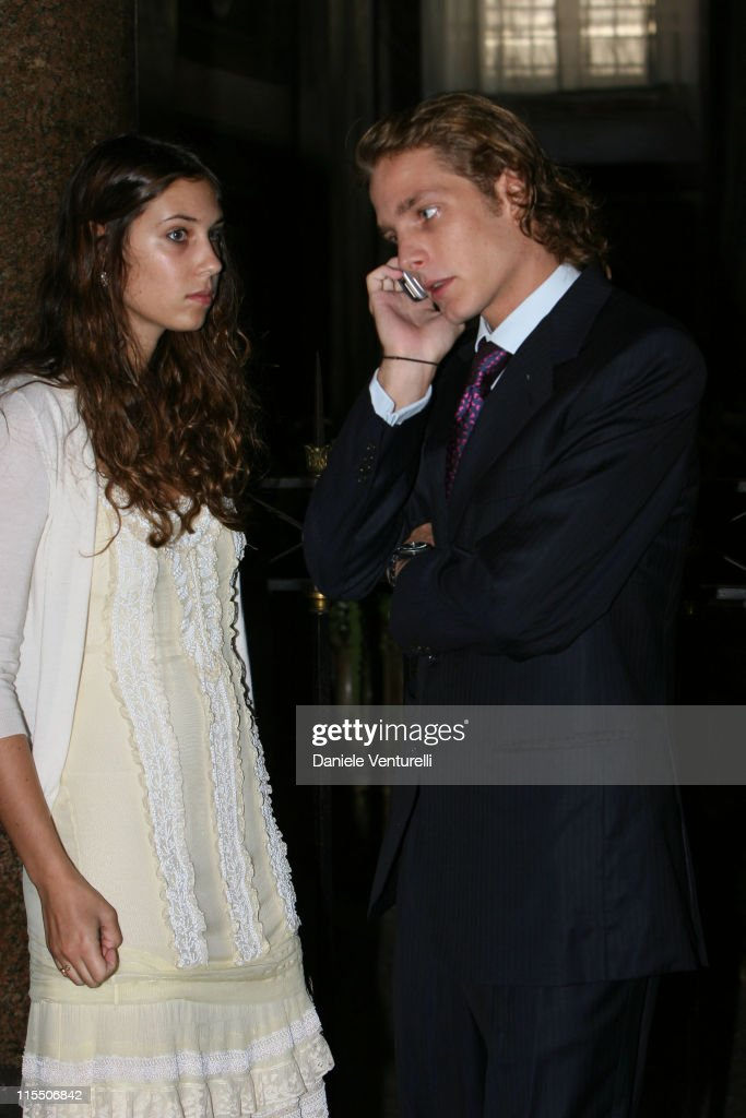Tatiana Santo-Domingo and <a gi-track='captionPersonalityLinkClicked' href=/galleries/search?phrase=Andrea+Casiraghi&family=editorial&specificpeople=213711 ng-click='$event.stopPropagation()'>Andrea Casiraghi</a> during Elle Macpherson and Arpad Busson in Rome for the Baptism of their Son Aurelius cy Andrea at Basilica Santa Maria Maggiore in Roma, Italy.