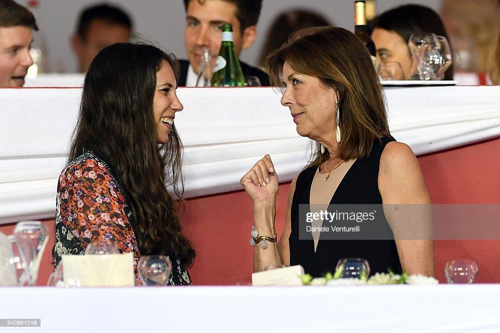 Tatiana Santodomingo and Princess Caroline of Hanover attend Longines Global Champions Tour of Monaco on June 24, 2016 in Monaco, Monaco.