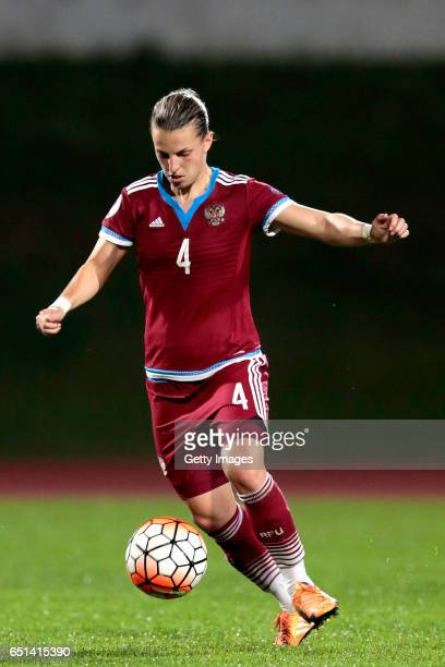Tatiana Sheikina of Russia during the Algarve Cup Tournament Match between Sweden W and Russia W on March 8 2017 in Albufeira Portugal