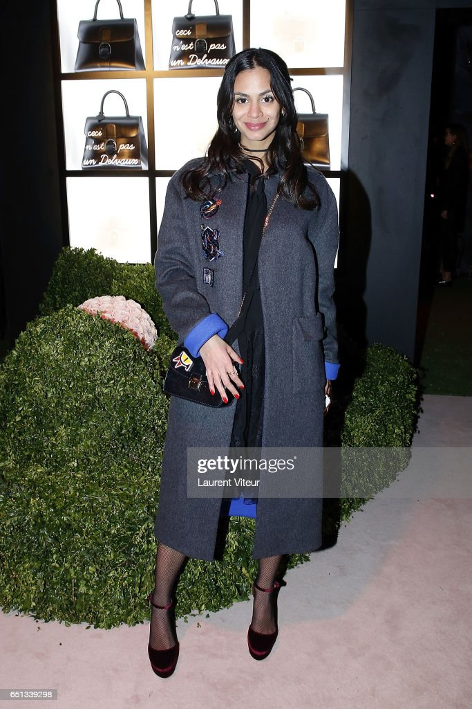 Tatiana Silva Braga Tavares attends Delvaux Cocktail as part of Paris Fashion Week Womenswear at Jardin du Palais Royal on March 1, 2017 in Paris, France.