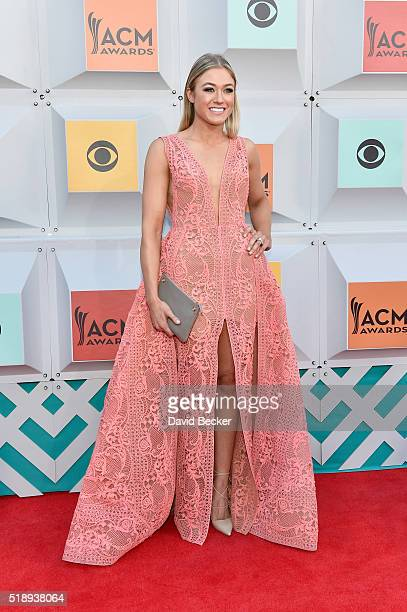 Tatiana Starzynski attends the 51st Academy of Country Music Awards at MGM Grand Garden Arena on April 3 2016 in Las Vegas Nevada
