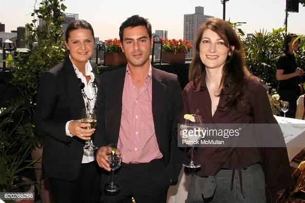 Tatiana Troubetzkoy Gilles Kortzagadarian and Pamela Dubuisson attend Stephanie Seymour and Patrice Kretz Celebrate the Chantelle Ad Campaign at The...