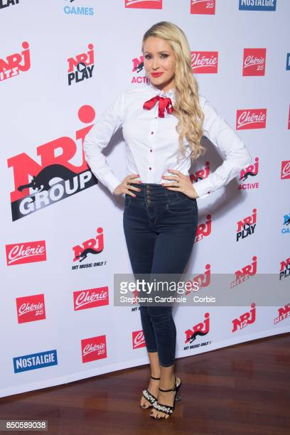 TatianaLaurens Delarue attends the NRJ's Press Conference to Announce Their Schedule for 2017/2018 on September 21 2017 in Paris France