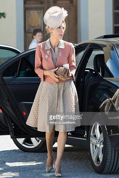 Tatjana d'Abo attending the Royal Christening for Princess Leonore at Drottningholm Palace Chapel on June 8 2014 in Stockholm Sweden