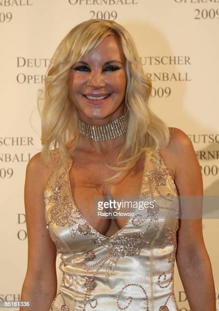 Tatjana Gsell arrives for the German Opera Ball 2009 at the Alte Oper on February 28 2009 in Frankfurt Germany