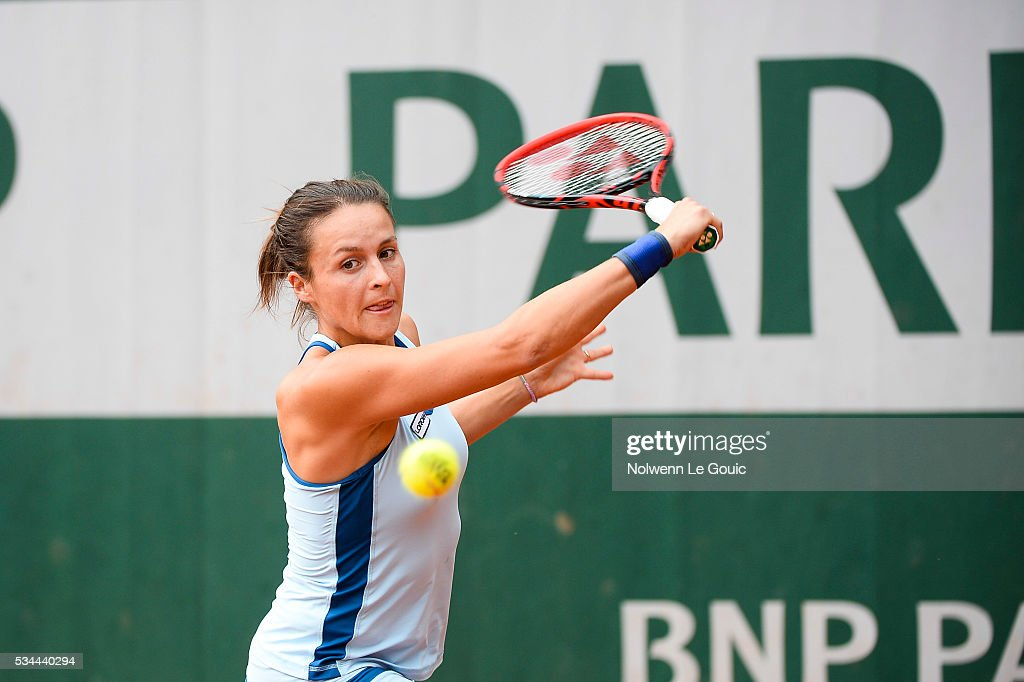Tatjana Maria during the Women's Singles Second round on day five of the French Open 2016 at Roland Garros on May 26, 2016 in Paris, France.