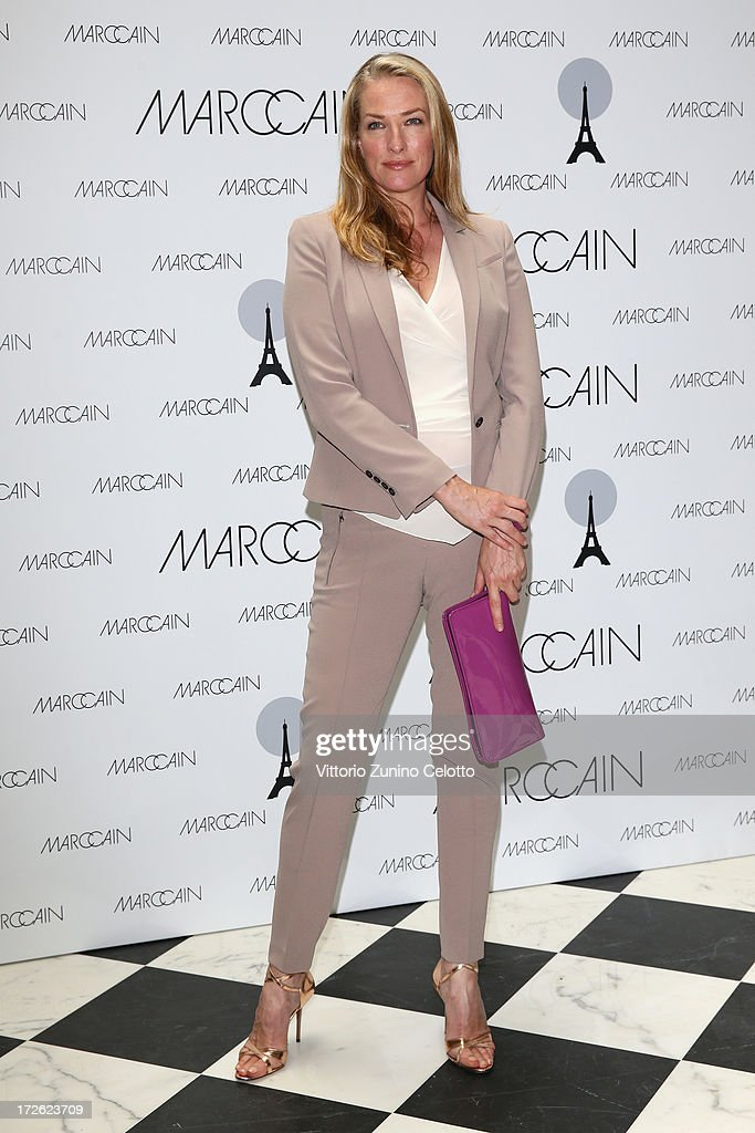 Tatjana Patitz attends the Marc Cain Photocall during the Mercedes-Benz Fashion Week Spring/Summer 2014 at the Hotel Adlon on July 4, 2013 in Berlin, Germany.