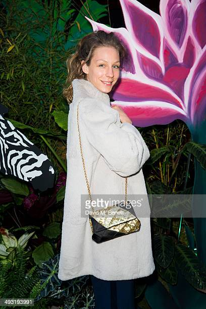 Tatjana Pesko arrives at Roger Vivier Summer Party at Loulou's on May 22 2014 in London England