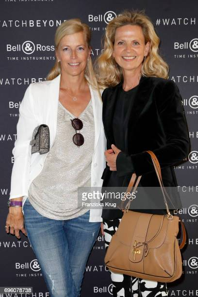 Tatjana von Keller and Verena von Strasoldo attend the Bell Ross Cocktail Party at Elbphilharmonie show apartment on June 14 2017 in Hamburg Germany