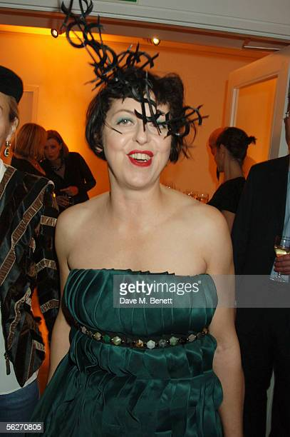 Tatler Fashion Director Isabella Blow attends an event celebrating 30 years of Kodak digital cameras and the arrival of the world's first wireless...