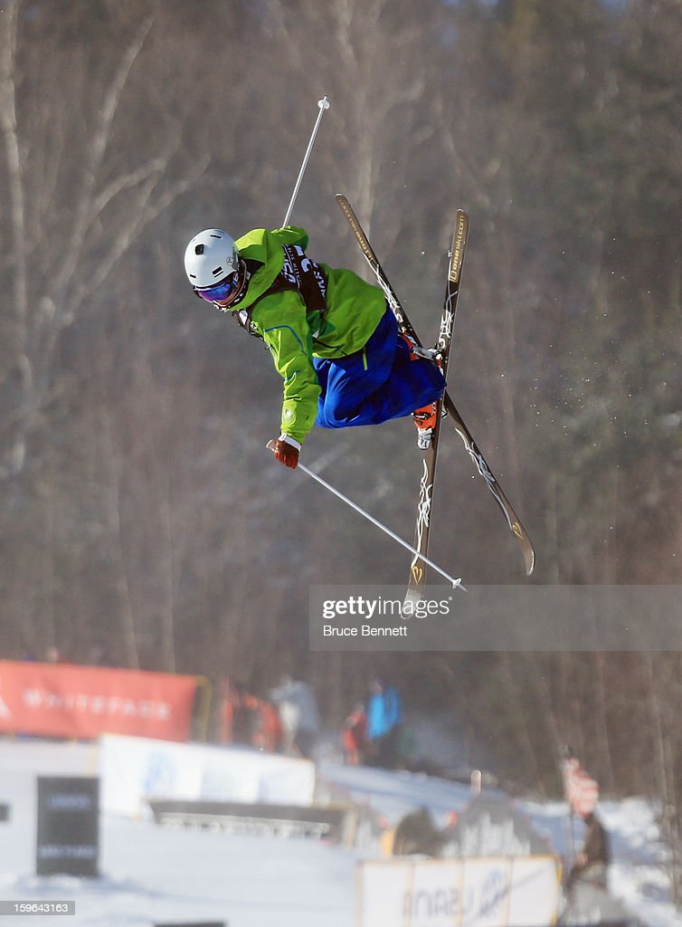 Tatsuki Kobayashi of Japan competes in the USANA Freestyle World Cup Moguls competition at Whiteface Mountain on January 17, 2013 in Lake Placid, New York.