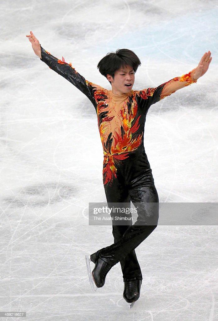 Tatsuki Machida competes in the Men's Singles Free Program during the 82nd All Japan Figure Skating Championships at Saitama Super Arena on December 22, 2013 in Saitama, Japan.