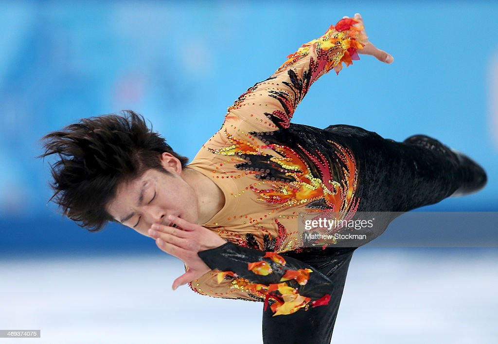 Tatsuki Machida of Japan competes during the Figure Skating Men's Free Skating on day seven of the Sochi 2014 Winter Olympics at Iceberg Skating Palace on February 14, 2014 in Sochi, Russia.