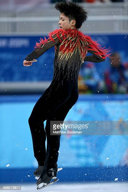 Tatsuki Machida of Japan competes in the Men's Figure Skating Men's Free Skate during day two of the Sochi 2014 Winter Olympics at Iceberg Skating...