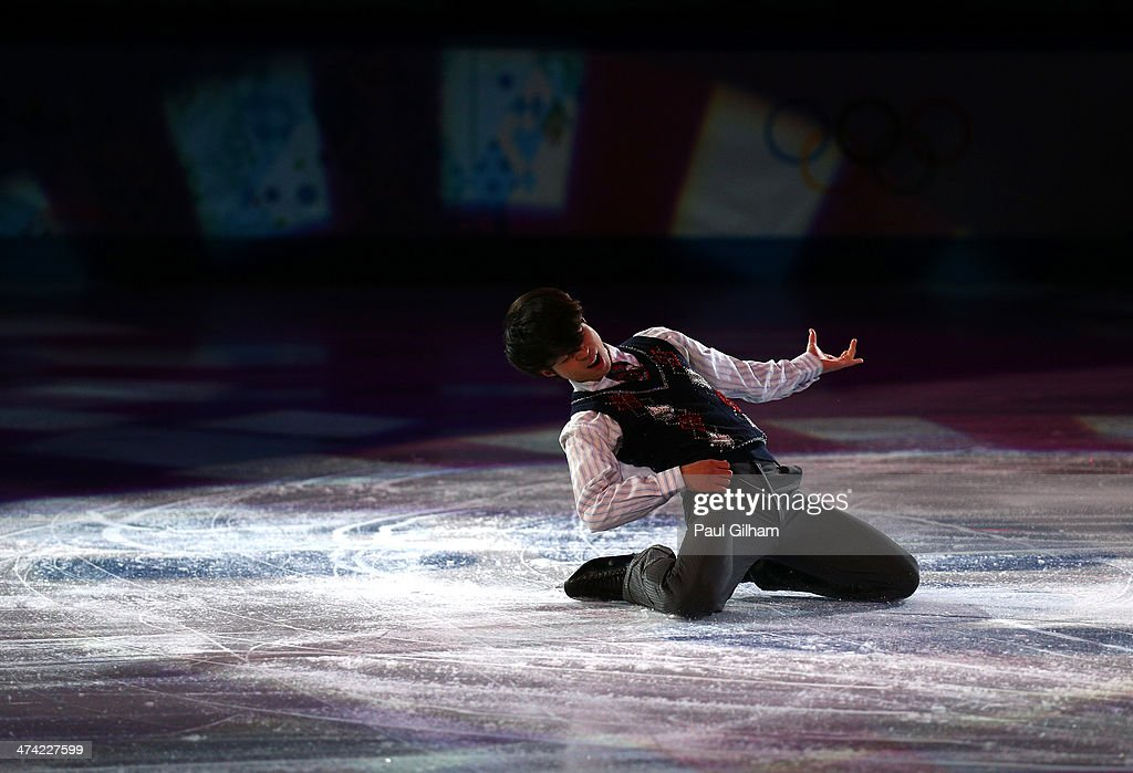 <a gi-track='captionPersonalityLinkClicked' href=/galleries/search?phrase=Tatsuki+Machida&family=editorial&specificpeople=4532357 ng-click='$event.stopPropagation()'>Tatsuki Machida</a> of Japan performs during the Figure Skating Exhibition Gala at Iceberg Skating Palace on February 22, 2014 in Sochi.