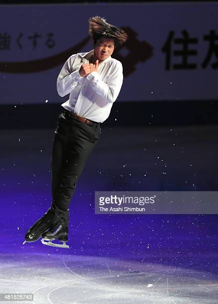 Tatsuki Machida of Japan performs during the gala exhibition of the ISU World Figure Skating Championships at Saitama Super Arena on March 30 2014 in...