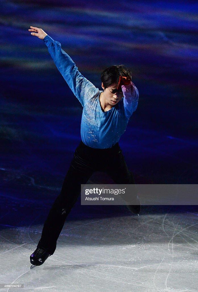 Tatsuki Machida of Japan performs his routine in the Gala exhibition during All Japan Figure Skating Championships at Saitama Super Arena on December 24, 2013 in Saitama, Japan.