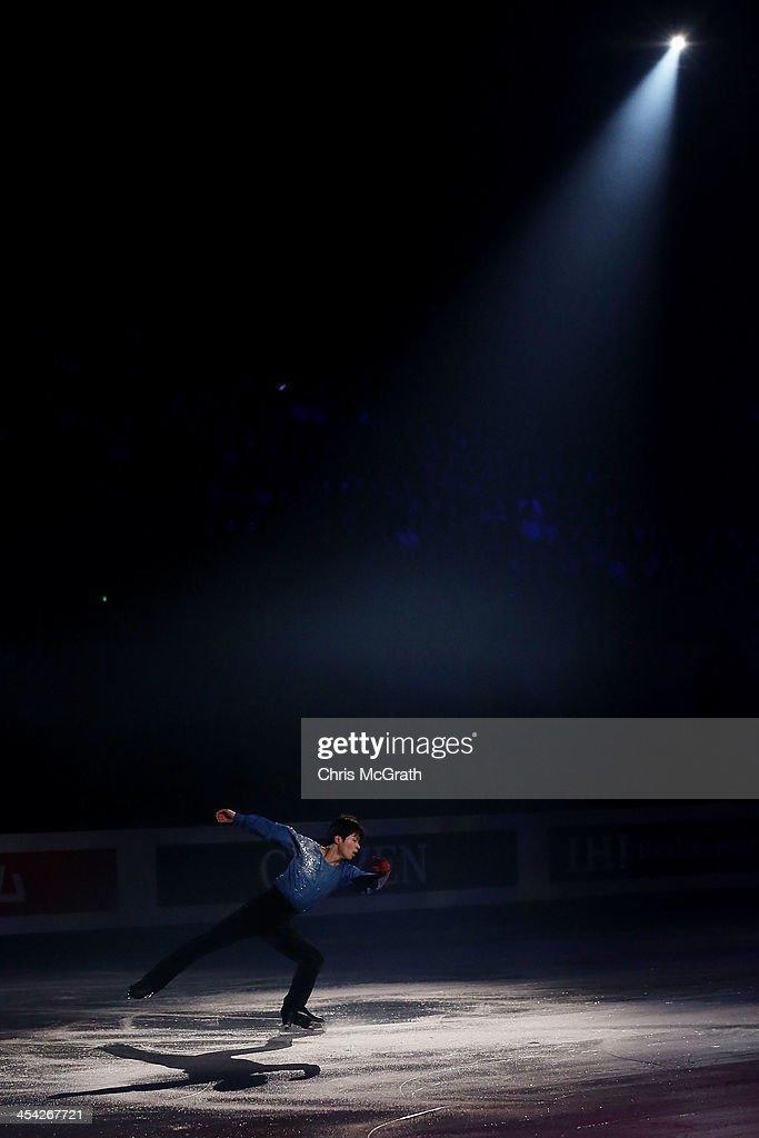 Tatsuki Machida of Japan performs his routine in the ISU Gala during day four of the ISU Grand Prix of Figure Skating Final 2013/2014 at Marine Messe Fukuoka on December 8, 2013 in Fukuoka, Japan.