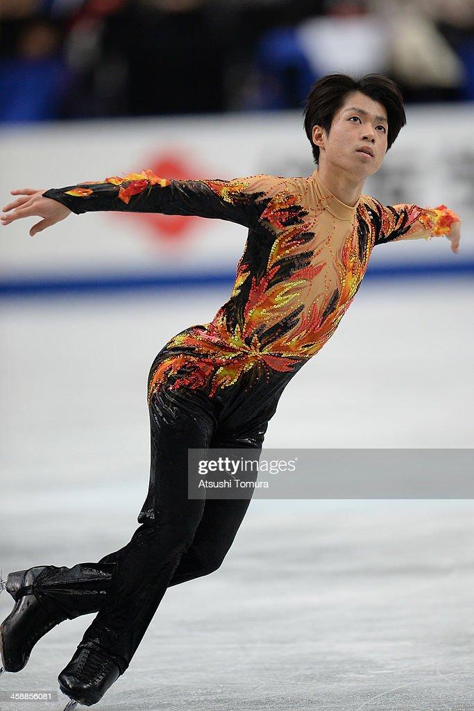 Tatsuki Machida of Japan performs in the men's free skating during All Japan Figure Skating Championships at Saitama Super Arena on December 22, 2013 in Saitama, Japan.