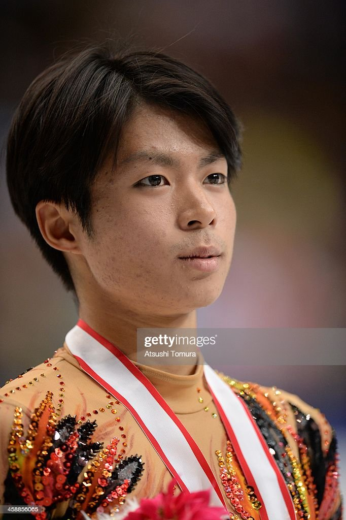 <a gi-track='captionPersonalityLinkClicked' href=/galleries/search?phrase=Tatsuki+Machida&family=editorial&specificpeople=4532357 ng-click='$event.stopPropagation()'>Tatsuki Machida</a> of Japan poses with medal in the men's single victory ceremony during All Japan Figure Skating Championships at Saitama Super Arena on December 22, 2013 in Saitama, Japan.