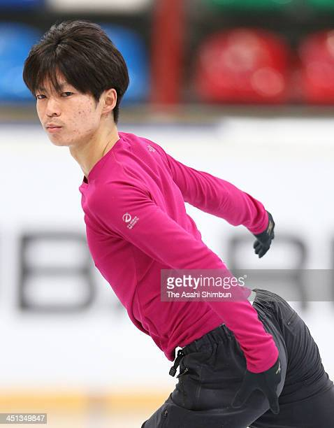 Tatsuki Machida of Japan skates in the official practice ahead of the ISU Rostelecom Cup of Figure Skating 2013 on November 21 2013 in Moscow Russia