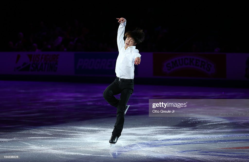 Tatsuki Machida of Japan skates in the Smucker's Skating Spectacular event during the Skate America competition at the ShoWare Center on October 21, 2012 in Kent, Washington.