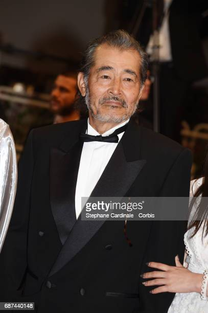 Tatsuya Fuji attends the 'Hikari ' premiere during the 70th annual Cannes Film Festival at Palais des Festivals on May 23 2017 in Cannes France