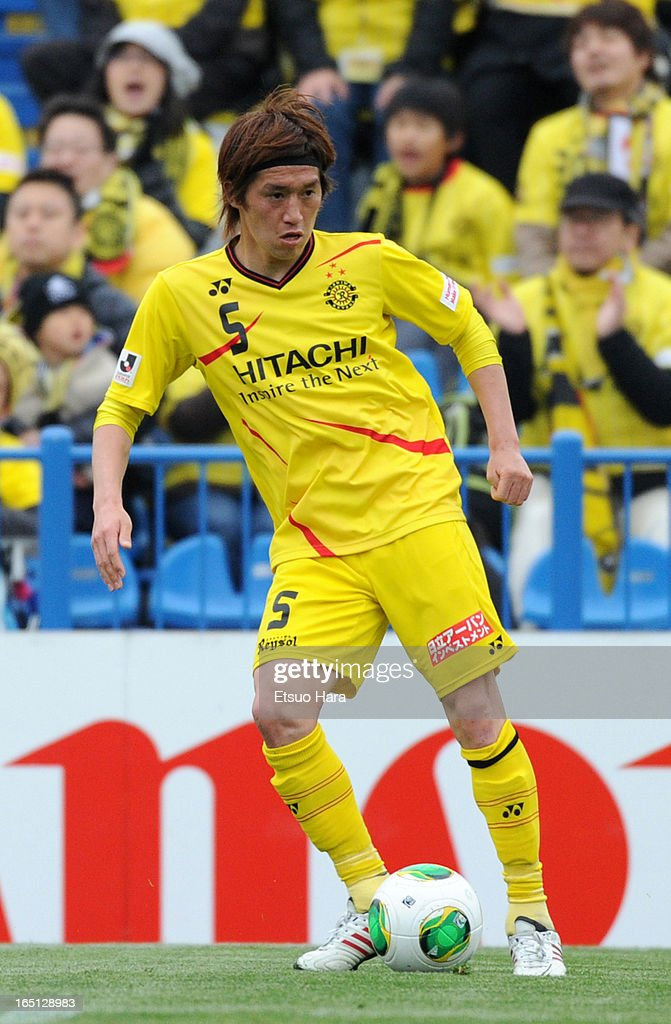 <a gi-track='captionPersonalityLinkClicked' href=/galleries/search?phrase=Tatsuya+Masushima&family=editorial&specificpeople=2300918 ng-click='$event.stopPropagation()'>Tatsuya Masushima</a> of Kashiwa Reysol in action during the J.League match between Kashiwa Reysol and Oita Trinita at Hitachi Kashiwa Soccer Stadium on March 30, 2013 in Kashiwa, Chiba, Japan.