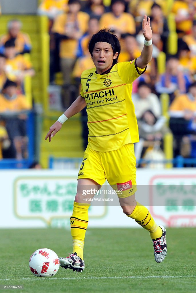 <a gi-track='captionPersonalityLinkClicked' href=/galleries/search?phrase=Tatsuya+Masushima&family=editorial&specificpeople=2300918 ng-click='$event.stopPropagation()'>Tatsuya Masushima</a> of Kashiwa Reysol in action during the J.League Yamazaki Nabisco Cup match between Kashiwa Reysol and Vegalta Sendai at the Hitachi Kashiwa Soccer Stadium on March 27, 2016 in Kashiwa, Chiba, Japan.