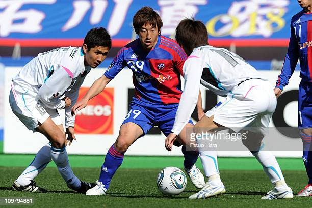 Tatsuya Yazawa of FC Tokyo controls the ball during the JLeague Division 2 match between FC Tokyo and Sagan Tosu at Ajinomoto Stadium on March 5 2011...