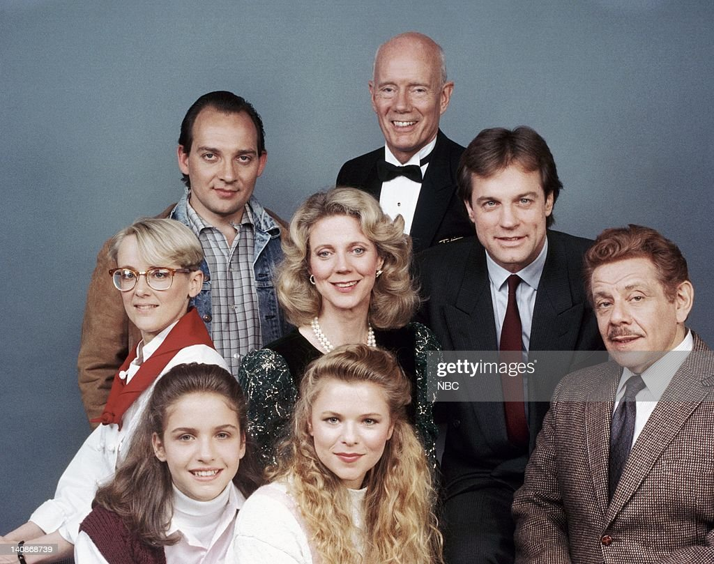 Chay Lentin as Winnifred Tattinger, Patrice Colihan as Nina Tattinger, Jerry Stiller as Sid Wilbur (middle row) Mary Beth Hurt as Sheila Bradley, Blythe Danner as Hillary Tattinger, <a gi-track='captionPersonalityLinkClicked' href=/galleries/search?phrase=Stephen+Collins+-+American+Actor&family=editorial&specificpeople=13636459 ng-click='$event.stopPropagation()'>Stephen Collins</a> as Nick Tattinger (back row) Zack Grenier as Sonny Franks, Roderick Cook as Louis Chatham -- Photo by: NBCU Photo Bank