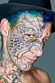 Tattoo And Piercing Fine Art Portrait