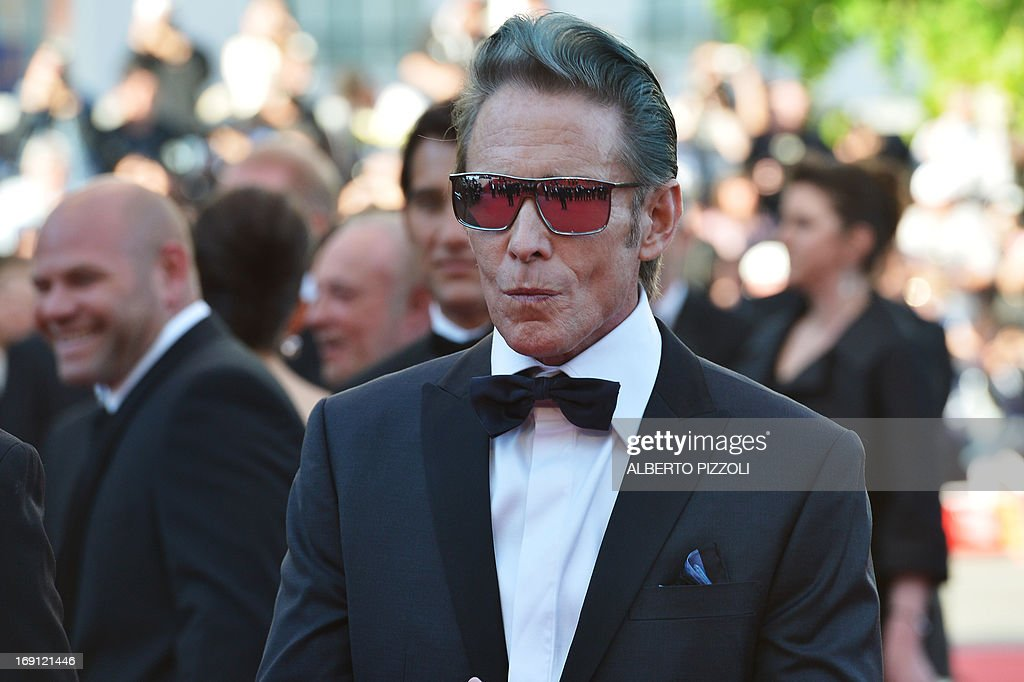 US tattoo artist and actor Mark Mahoney arrives on May 20, 2013 for the screening of the film 'Blood Ties' presented Out of Competition at the 66th edition of the Cannes Film Festival in Cannes. Cannes, one of the world's top film festivals, opened on May 15 and will climax on May 26 with awards selected by a jury headed this year by Hollywood legend Steven Spielberg. AFP PHOTO / ALBERTO PIZZOLI