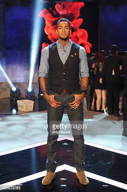 Tattoo artist Anthony Michaels poses on stage during the 'Ink Master' season 7 LIVE finale on May 24 2016 in New York City