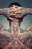 Tattoo artist back
