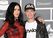 Tattoo artist Kat Von D and DJ Deadmau5 arrive at the 55th Annual GRAMMY Awards at Staples Center on February 10 2013 in Los Angeles California