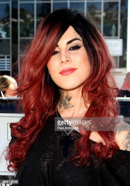 Tattoo Artist Kat Von D attends the Revolver Golden Gods Awards press conference at Rainbow Bar Grill on February 17 2010 in Los Angeles California
