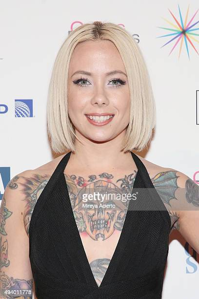 Tattoo artist Megan Massacre attends the 11th Annual Orphaned Starfish Foundation's New York Gala at Cipriani Wall Street on October 23 2015 in New...