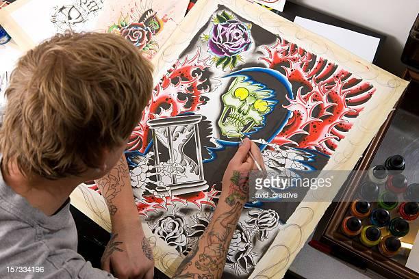 Artiste peinture Ange de la mort Illustration