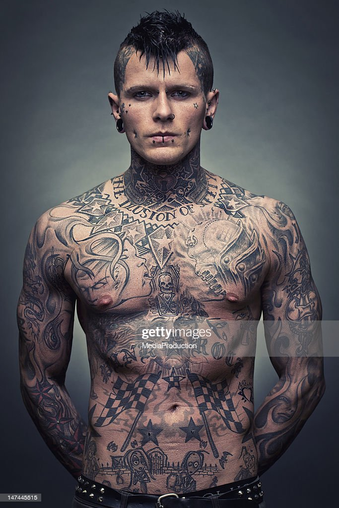 Tattoo artist portrait : Stock Photo