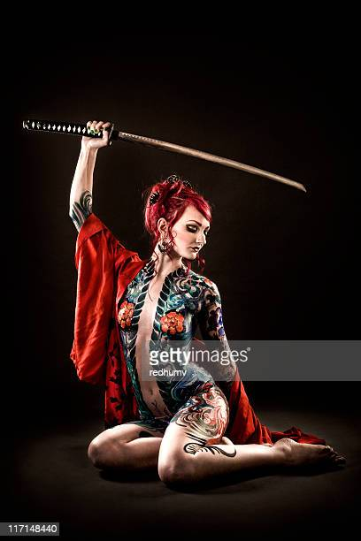 Tattoo Asian Samarai Beauty