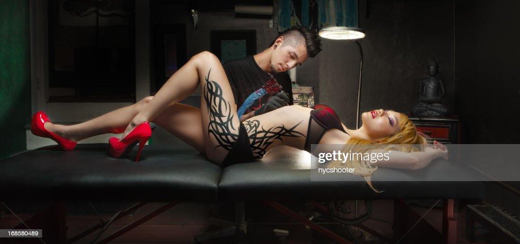 Tattoo culture : Stock Photo